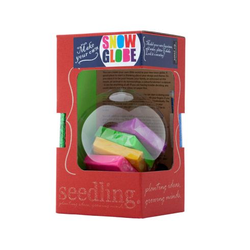 Make Your Own Snow Globe Kit by Seedling.  Okay, I don't actually own this - I just think it is awesome.  I would have loved this as a child.  And I'd probably still like it today.  Instructions say it is appropriate for ages 6+, and it can be found all over the web (Giggle, Yoyo, Amazon, etc.)