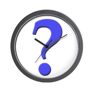 Question Mark Clock from CafePress