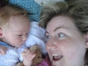 June 2010. Pickle, Baby Bear and Me.