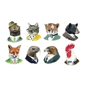 Animals in clothes!  I die! I must have the Sea Otter wearing a bowler!