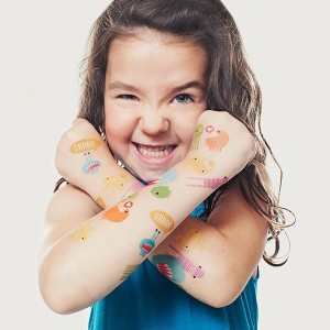 "My children adore temporary tattoos.  At one count, my son had 14 ""How to Train Your Dragon"" tattoos on his body at one time.  I think I would have preferred these little monsters.  So cute."