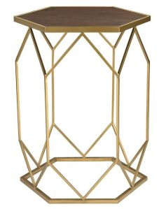 Sterling Lighting Hexagon Frame Side Table image from Houzz (click on photo to go there).