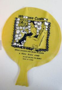 Whoopee Cushion for Rich People - it is bedazzled!