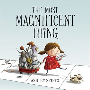A book about imagination, frustration and problem solving. By Ashley Spires Ages 3-7